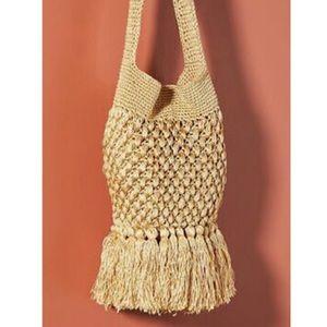 Anthropologie Barbara Boho Crocheted Fringe Bag.
